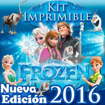 Mega Kits Imprimibles Festejos Frozen 100% Editables 2016