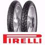 Juego De Cubiertas Pirelli Courier 2.50-17 Y 80/100-14 Biz