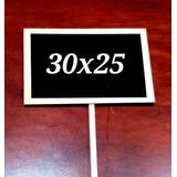 Pizarras Letrero De Madera 30x25 Cms + Set De Tizas