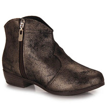 Ankle Boots Infantil Molekinha - 25 Ao 34 - Bronze