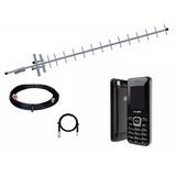 Telefone Celular 2 Chip Rural C/ Antena Externa 10 Mts Cabo