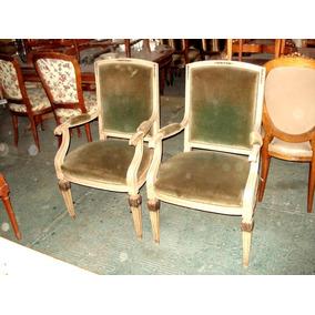 Juego de sillones vons sillas antiguos en mercado libre - Silla luis xiv ...