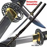 Katana Japonesa De Samurai Tsuba Clasica Hecha A Mano - W03