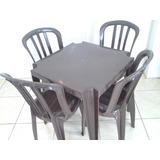 10 Mesas C/40 Cadeiras Bistrô Cinza Inox De Plástico Empilha
