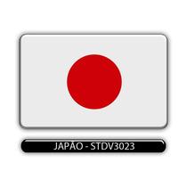 Adesivo Automotivo Bandeira Paises Japão Resinado