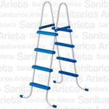 Escalera Intex Para Pileta 122 Cm Estructura Metalica