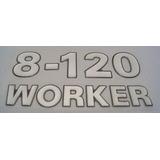 Emblema 8-120 Worker Caminhão Volkswagem Otima Qualidade