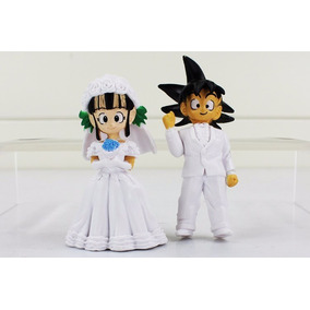 Goku E Chichi Bonecos Casamento Brinquedo - Dragon Ball Z