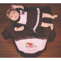 Saída De Maternidade Personalizada Com Nome Bebe - Vestido
