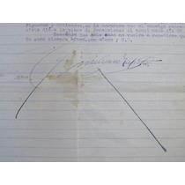 Carta Antigua Firma Autógrafa De Emiliano Zapata 1918 1/4