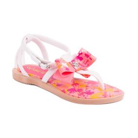 Sandalia Grendene Chiquititas Bege/branco/rosa
