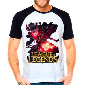 Camiseta Raglan League Of Legends Thresh Lua Sangrenta Lol C
