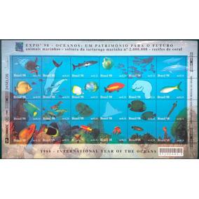 F-4035 - 1998 - Selo Expo 98 Oceano - Folha