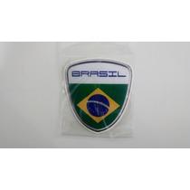 Bandeira Do Brasil Adesivo Resinado Escudo C/ Paises