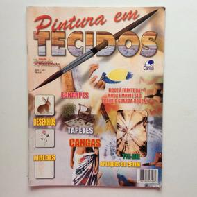 Revista Pintura Em Tecido Cangas Tapetes Echarpes Nº1