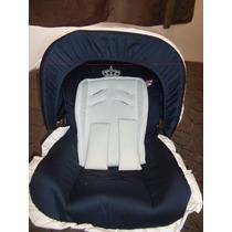 Capa Para Bebe Conforto Azul Marinho Com Branco 4 Peças