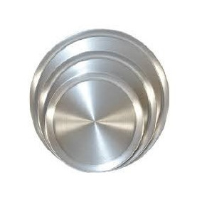 Charolas Para Pizza Reforzada De Aluminio. 50 Cms