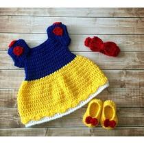 Vestido De Blanca Nieves Tejido A Crochet Envio Gratis
