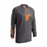 Camisa Thor Phase 16 Offroad - Grafite/laranja - Tam. Gg