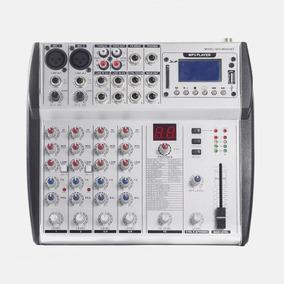 Consola De Audio Profesional Sps M602ubt 6 Ch Usb Bluetooth