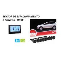 Oferta! Sensor De Estacionamento Orbe Display Lcd 8 Pontos