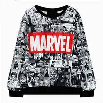 Moletom Marvel Estampada Frente/verso Moletom Moda Blusa