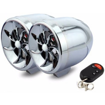 Bocinas Amplificadas De Moto Estereo Mp3 Usb Sd Alarma Cr