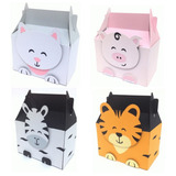 Cajas Lunch Animales Cotillones Baby Shower Candy Bar