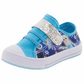 Tênis Infantil Feminino Princesa Azul Corvetti Kids - 4210