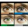 Lentes De Contacto Azul Gris Verde Y Ambar