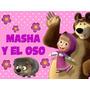 Kit Imprimible Masha Y El Oso Diseña Tarjetas Invitacion #2