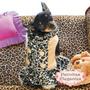 Roupinha Para Cachorro - Vestido Beyonce/oncinha (p) - Loja