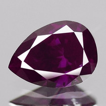 Diamante Color Rosa Purpura .34 Cts Natural. Corte Pera