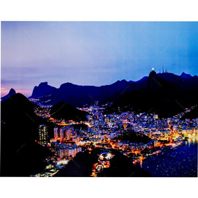 Tela Impressa Com Leds Panorama Rio De Jan S/juros S/frete