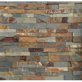 panel de piedra muralla recta