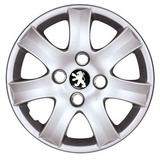 Jogo Calota Aro 14 Peugeot 206 207 307 - 4 Peças C/ Emblema