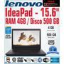 Laptop Lenovo Ideapad 110 15.6 4gb Ram 500gb Hd Economica