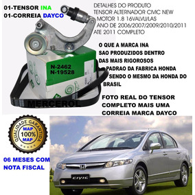 Kit Tensor Correia Do Alternador Novo Honda New Civic 1.8 16
