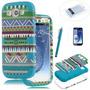 Carcasa Azul Tribal Antichoque Para Samsung Galaxy 3 Siii I9