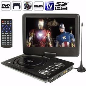 Dvd Portatil 9 Pol Tela Lcd Multimedia Cd Sd Usb Fm Jogos