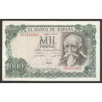 España Billete Conmemorativo 1000 Pesetas 1974 Escaso Vf +
