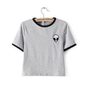 Camiseta Infantil Alien Tumblr Girl