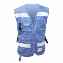Chaleco Para Brigadista Azul Rg-02 Dermacare