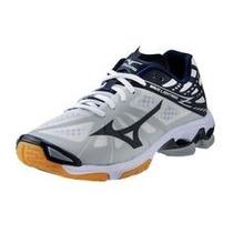 Tenis Mizuno Lightning Z Blancoazulm Voleibol,balonmano,gym