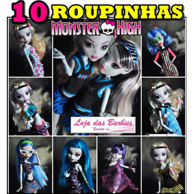 Mega Lote * 10 Roupas P/ Boneca Monster High E Ever After