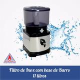 Filtro De 11 Litros De Água De Inox Com Base De Barro + Vela
