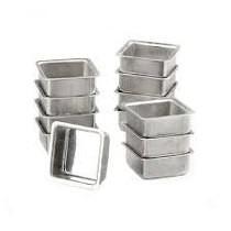 Forminha Pão De Mel Quadrada Dúzia N 1 Alumínio Resistente