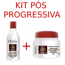 Kit Home Care Forever Liss Brilho Intenso Pós Progressiva