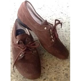 Blue Jean Bordado, Franela, Bolso Y Zapatos Dama Marrón