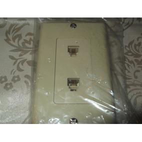 Tapa Faceplace Cajetin 2 Toma Telefonica Fijo Rj11 Equiprog